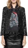 Zadig & Voltaire Volly Sequin Deluxe Jacket