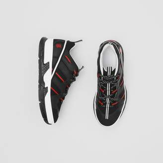 Burberry Mesh and Nubuck Union Sneakers
