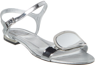 Roger Vivier Chips West Buckle Leather Sandal