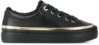 Tommy Hilfiger Metallic Detail Lace-Up Sneakers