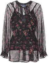 Polo Ralph Lauren Floral-printed silk top
