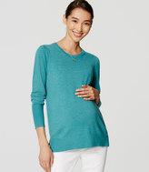 LOFT Maternity Puff Sleeve Sweater