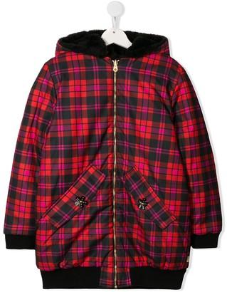 Little Marc Jacobs Check Faux-Fur Jacket