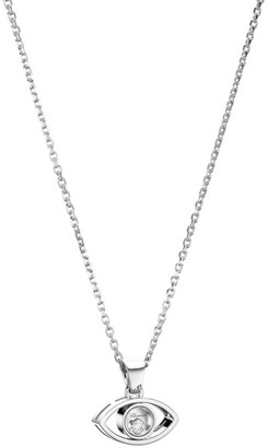 Chopard Evil Eye Diamond & 18K White Gold Pendant Necklace