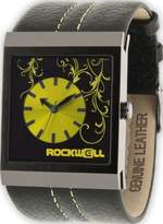 Rockwell Time Unisex MC123 Mercedes Black Leather and Yellow Watch