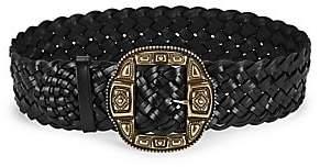 Etro Women's Braided Leather Belt