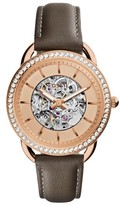 Fossil Women's Tailor Automatic Leather Strap Watch, 35Mm