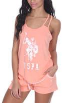 U.S. Polo Assn. Beach Blush Heather Pajama Shorts Set