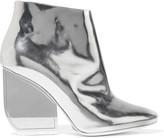 Maison Margiela Metallic glossed-leather ankle boots