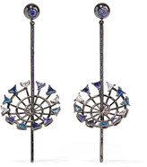 Eddie Borgo Apollo Gunmetal-plated Cubic Zirconia Earrings - Silver