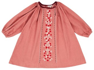 Caramel Floral Embroidered Nightjar Dress (8-12 Years)