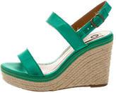 Lanvin Satin Wedge Sandals
