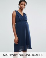 Mama Licious Mama.licious Nursing Sleeveless Woven Dress