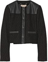 Jason Wu Wool-bouclé and leather jacket