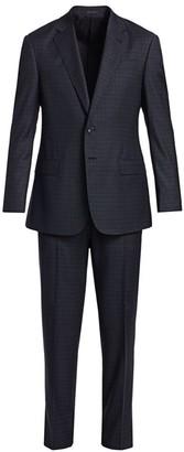 Giorgio Armani Plaid Single-Breasted Wool Suit