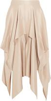 Barbara Casasola Draped Asymmetric Silk-Crepe Skirt