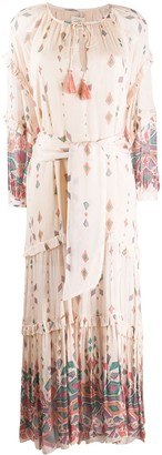 Chufy Pisac geometric print maxi dress