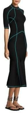 Alexander Wang Mockneck Lace-Up Dress