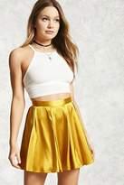 Forever 21 Satin Pleated Mini Skirt