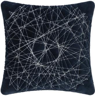 A By Amara A by Amara - Navy Velvet Quilted Cushion - 30x30cm