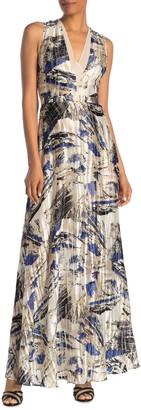 Reiss Alexi Tie Back Patterned Maxi Dress