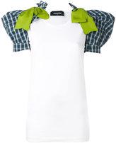 DSQUARED2 puff shoulder T-shirt - women - Cotton/Virgin Wool/Polyamide/Polyester - XS