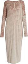 Raquel Allegra Tie-dye cotton-jersey dress