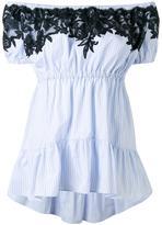 Ermanno Scervino lace detail off-shoulders blouse - women - Cotton/Polyamide/Polyester/Viscose - 38