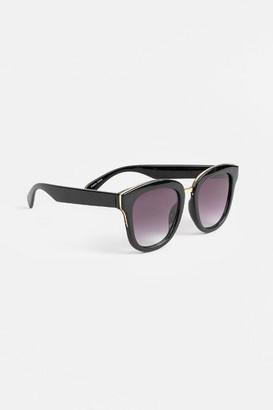 francesca's Reyna Cat Eye Sunglasses - Black