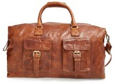 Rawlings Sports Accessories 'Rugged' Leather Duffel Bag - Brown