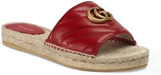 Gucci Pilar GG Matelasse Espadrille Slide Sandal