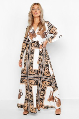 boohoo Plus Chain Print Maxi Dress