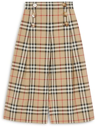 Burberry Kids Vintage Check Sailor Trousers (3-12 Years)