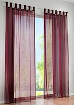 LivebyCare 1pcs Candy Color Sheer Window Curtain Panel Tap Top Voil Window Treatment Drapery Drape Room Divider Partition Curtains Decorative for Pub Rest Room