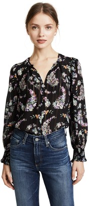 Rebecca Taylor Women's Longsleeve Jewel Paisley Top