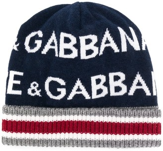 Dolce & Gabbana ribbed knit hat