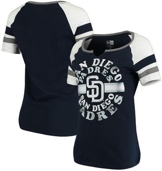 New Era Women's Navy San Diego Padres Scoop Neck T-Shirt