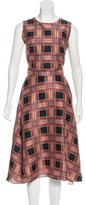 Rodarte Silk Plaid Print Dress