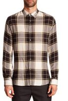 Public School Plaid Wool Blend Shirt