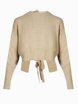 KHAITE Renee tie-back cashmere sweater