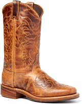 Tan Distressed Leather Cowboy Boot
