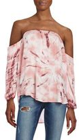 Young Fabulous & Broke March Tie-Dye Off-The-Shoulder Top