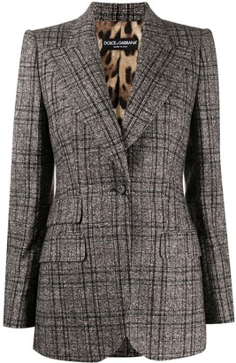 Dolce & Gabbana Checked Single-Breasted Blazer