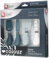 Richardson Sheffield Love Colour Mono 4-piece Cheese Knife Set With Amour Chopping Board
