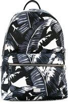 Dolce & Gabbana Hawaiian print backpack - men - Calf Leather/Nylon/Polyamide - One Size