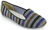 Charles Philip Sheila - Multi Striped Woven Loafer