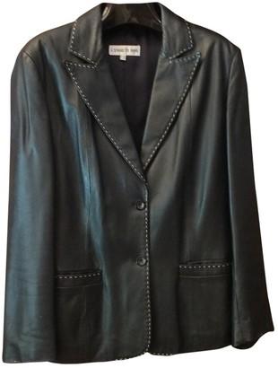 Cerruti Black Leather Jacket for Women Vintage