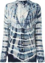 Raquel Allegra shred back tie-dye cardigan