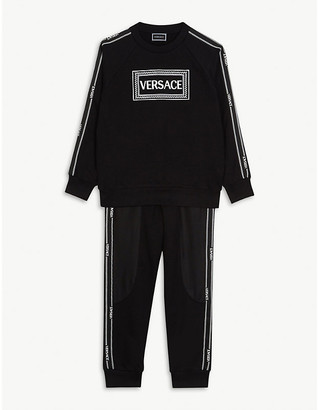 Versace Logo cotton tracksuit 4-14 years