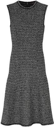 St. John Metallic Tweed Flared Dress